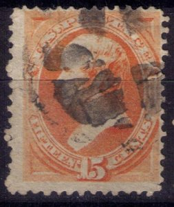 US Scott #152 Used Bright Orange 15c F-VF
