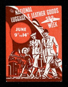 POSTER STAMP NATIONAL LUGGAGE AND LEATHER GOODS WEEK JUNE 9TH - 14TH MH WITH GUM
