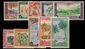 COOK ISLANDS GVI SG150-159, complete set, M MINT. Cat £50.
