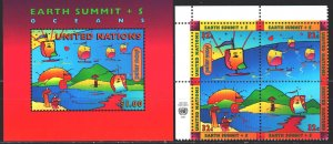 UN New York. 1997. 736-40, bl40. Environmental Conference, Ecology. MNH.