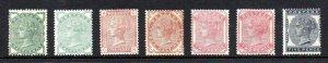 GB QV SG164-SG169 1880/1881 Provisional Issue Set Fine Mint Hinged/MNG CV £1820