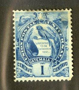 GUATEMALA 31 USED SCV $3.00 BIN $1.25