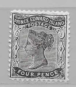 Prince Edward Island 9 4p Victoria single MLH