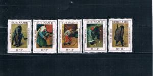 Surinam B177-181 Art MNH (S0021)