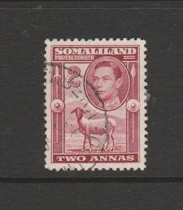 Somaliland protectorate 1938 King looking sideways 2As FU SG 95