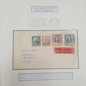 O) 1932 CHILE, VIA PANAGRA  . CONDOR GRAF ZEPPELIN, SIXTH FLIGHT  G278, MIT LUFT