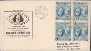 Canada, Worldwide First Day Cover, Telephone and Telegraph
