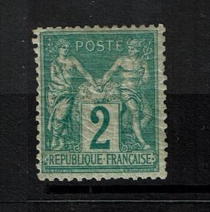 France SC# 77, Mint Hinge, multi Hinge Remnants, minor toning - S1517