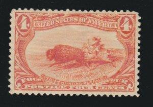US 287 4c Trans-Mississippi Mint VF OG H SCV $110