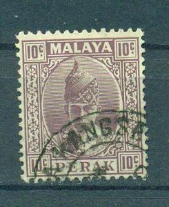 Malaya - Perak sc# 90 (2) used cat value $.25