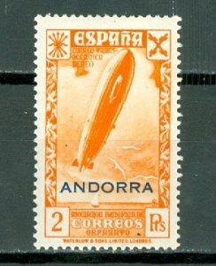 SPANISH ANDORRA 1943 CHARITY EDIFIL #12...MINT