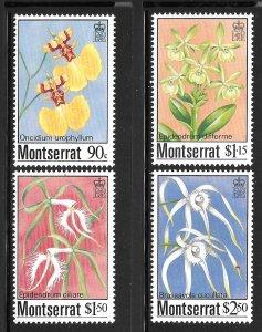 Montserrat 554-557: Orchids, MH, VF