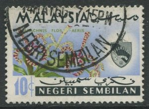 STAMP STATION PERTH Negri Sembilan #80 Orchid Type & State Crest Used 1965