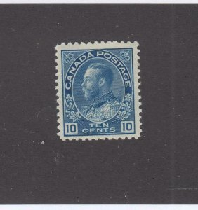 CANADA # 119  VF-MLH  10cts 1922 KING GEORGE V ADMIRAL ISSUE /BLUE  CAT VAL $80