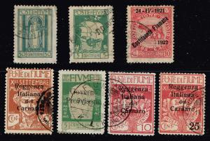 ITALY STAMPS COLLECTION LOT #T8  FIUME