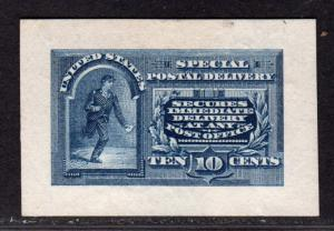 $US Sc#E4P2 Mint, Plate Proof sm. Die on white wove paper, Cv. $250