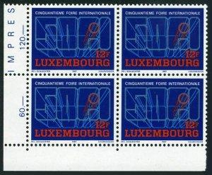 Luxembourg 768 block/4,MNH.Mi 1172. International Fair,50th Ann.1987.