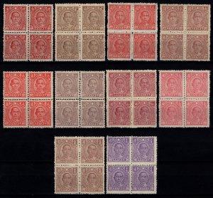 China 1944 Dr. Sun Yat-sen def., complete Block Set (incl. colour var.) [Mint]