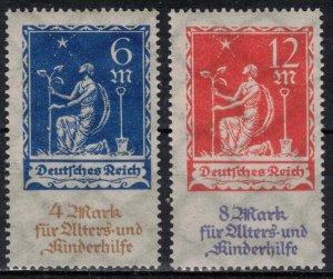 Germany - Reich - Scott B3-B4 MNH (SP)
