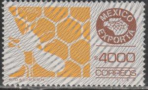 MEXICO Exporta 1767, $4000P HONEY Fluo Paper 13 W/BURELAGE. MINT, NH. F-VF.