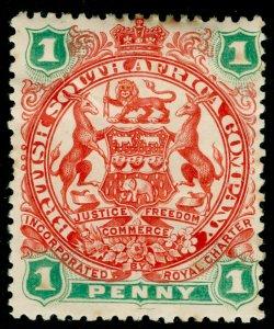 RHODESIA SG67, 1d scarlet & emerald, M MINT. Cat £13.