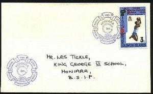 SOLOMON IS 1969 local cover Honiara ROYAL VISIT commem cancel..............94033
