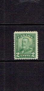 CANADA 1928 TWO CENT KING GEORGE V SCROLL ISSUE - SCOTT 150 -  MNH