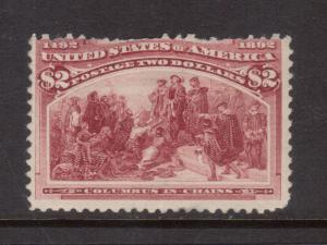 USA #242 Mint Fine Full Original Gum Hinged - Perf Faults At Top