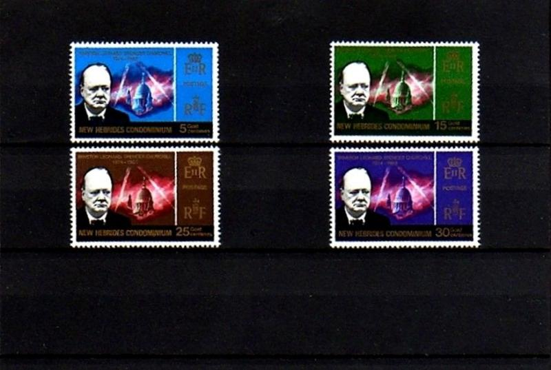 NEW HEBRIDES - BR - 1966 - QE II -  CHURCHILL MEMORIAL - MINT - MNH - SET!