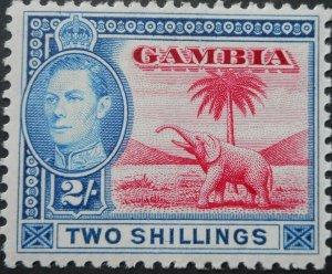 Gambia 1938 GVI Two Shillings SG 157 mint
