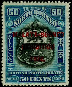 NORTH BORNEO SG275, 50c steel-blue, LH MINT. Cat £19.