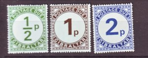J22186 Jlstamps 1971 gibraltar set mnh #j4-6 postage dues
