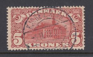Denmark Sc 82 used 1912 5kr dark red General Post Office, sound & well centered