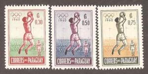 Paraguay 556-558 Mint VF H