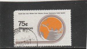 Singapore  Scott#  494  Used  (1986 Submarine Cable)