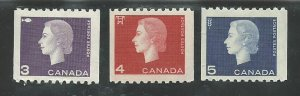 Canada  407-409  Mint NH VF   PD 1962-63