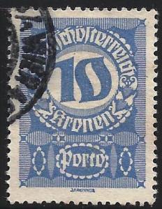 Austria 1920-21 Postage Due Scott# J91 Used
