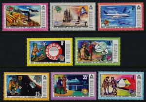 Grenada 562-9 MNH UPU, Trains, Aircraft, Concorde, Helicopter, Ship, Satellite