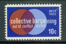 1558 10c Collective Bargaining Sht/50 LL 35583-86 Sht3819
