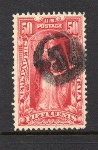 #PR119  50c Newspaper Stamp - USED and NICE  cv$75.00