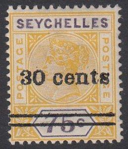 Seychelles 34 MVLH CV $3.00
