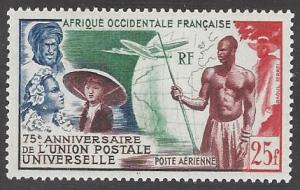 French West Africa #C15 mint single, UPU 75th anniv.