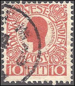 Danish West Indies 32 Used... SCV $3.25