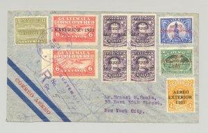 Guatemala 1930 Registered Flight Cover to New York