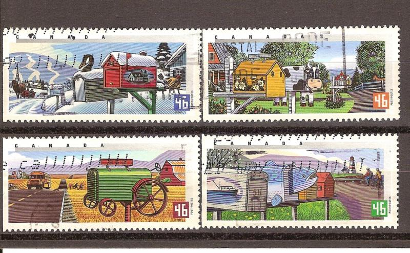 CANADIAN SET ON RURALMAILBOXES #1849-1852 USED STAMPS  LOT#211