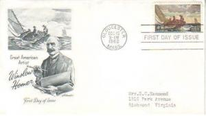 United States, First Day Cover, Art, Ships