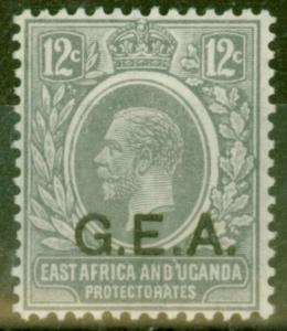 Tanganyika G.E.A 1921 12c Slate-Grey SG63 V.F Lightly Mtd Mint