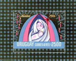 Uruguay 1974 Christmas '74 Virgin & Child S/S MNH Sc# C401