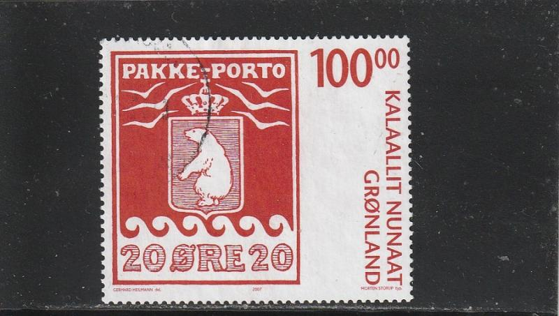 Greenland  Scott#  497  Used  (2007 Parcel Post Stamp Centenary)