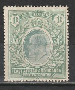 EAST AFRICA & UGANDA 1904 KEVII 1R WMK MULTI CROWN CA